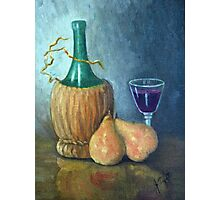 Wine Still Life Photographic Print