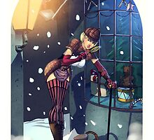 Sherlock Steampunk Christmas Illustration - She. R. Lock and the Adventure of the Blue Carbuncle by artofadamlumb