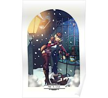 Sherlock Steampunk Christmas Illustration - She. R. Lock and the Adventure of the Blue Carbuncle Poster