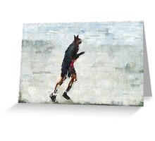 Run Rabbit Run Greeting Card