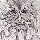 Nature's Face- Pen and Ink by JamieTifft