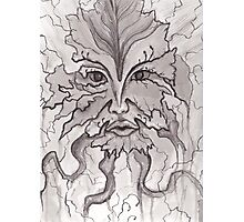 Nature's Face- Pen and Ink Photographic Print
