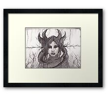 Death's Decay- Pen and Ink Framed Print