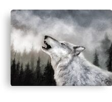 Winter Wolf Digital Painting Canvas Print
