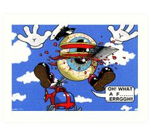 Fun with a helicopter Art Print