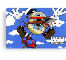 Fun with a helicopter Canvas Print