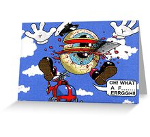 Fun with a helicopter Greeting Card