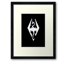 The Skyrim Symbol - Simple White Framed Print