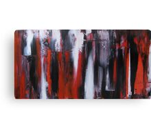 Red ,Black and White Canvas Print
