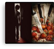 Strawberry Massacre Canvas Print