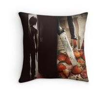 Strawberry Massacre Throw Pillow