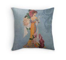 Ladies of Fashion:  Rose Throw Pillow
