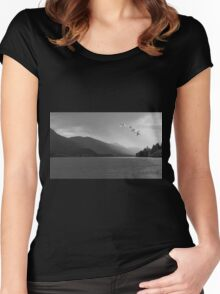 WINTER MIGRATION Women's Fitted Scoop T-Shirt