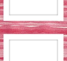 Letter H Red Watercolor Stripes Initial Monogram Sticker