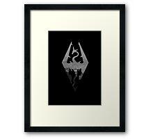 The Skyrim Symbol - Sky Background NoDetail NoFilter Framed Print