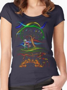 Radiohead King of Limbs Women's Fitted Scoop T-Shirt