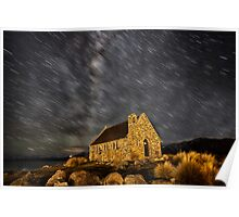 Tekapo Star Trails Poster