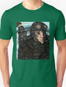 Vrauk Digital Man Armor Dusty Scifi Unisex T-Shirt