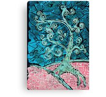 Tree 1 in Green Canvas Print