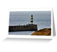 Seaham Harbour Light Greeting Card