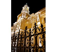 Cathedral at Night Photographic Print