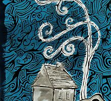 House in Blue by Clayton Colgin