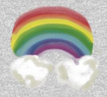 RAINBOW WITH CLOUDS TEE SHIRT/BABY GROW/STICKER Kids Clothes