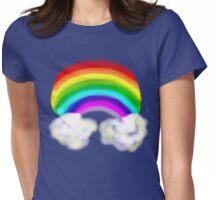 RAINBOW WITH CLOUDS TEE SHIRT/BABY GROW/STICKER Womens Fitted T-Shirt
