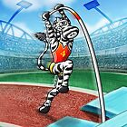Olympic Pole Vault Zebra by Zoo-co