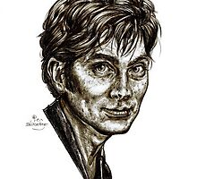 David Tennant - Doctor Who - Allons-y (Drawing) by Indigo East