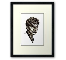 David Tennant - Doctor Who - Allons-y (Drawing) Framed Print