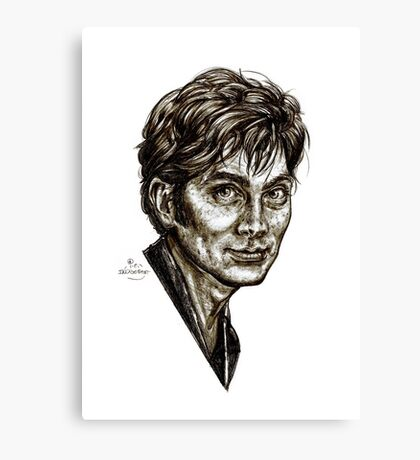 David Tennant - Doctor Who - Allons-y (Drawing) Canvas Print