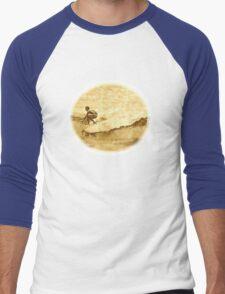 Sepia Surfer Men's Baseball ¾ T-Shirt