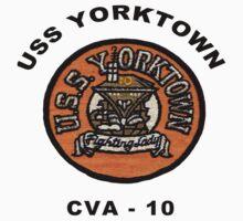 USS Yorktown (CV/CVA/CVS-10) Crest One Piece - Short Sleeve