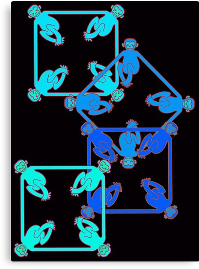 Shape Monkeys - Square by jamface