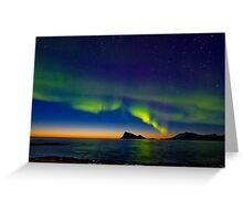 Aurora oval Greeting Card