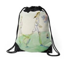 Soccer Women Drawstring Bag