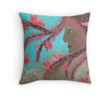 Tree Nymph in Blossom Throw Pillow