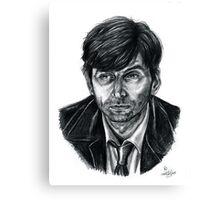 David Tennant as Broadchurch's Alec Hardy (or Gracepoint's Emmett Carver) (Graphite) Portrait  Canvas Print