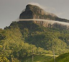 Band of mist- Mount Lindesay. Scenic Rim, Queensland. by Ian Hallmond