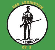 USS Lexington CV-2 for Dark Colors One Piece - Short Sleeve