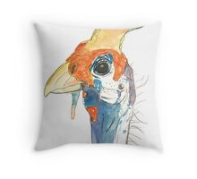Guinea Fowl Throw Pillow