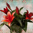 Rich Red Lilies by Irene  Burdell