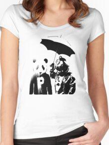 saving panda Women's Fitted Scoop T-Shirt