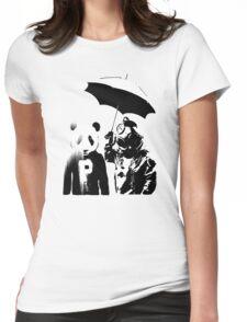 saving panda Womens Fitted T-Shirt