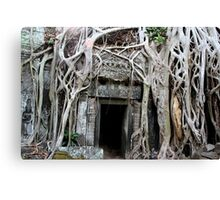 Angkor Temple Door Canvas Print