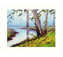 River Gum trees Art Print