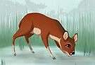 Chinese water deer by Tunnelfrog