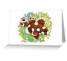 Young Harlequin Sweetlips Reef Fish with Coral Greeting Card