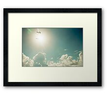 Blue Angels into the sun Framed Print